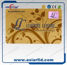 Xinyetong CR80 Customized printable 13.56MHz RFID NFC PVC Business Gold Gift member vip card