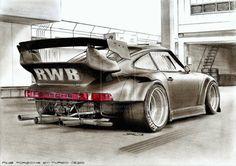 Porsche RWB Sketch