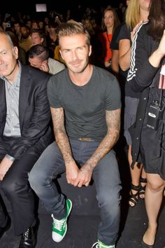Mr. Wonderful himself (aka David Beckham) sitting front-row at Y3's Spring 2013 show