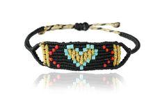 Zoe Kompitsi | Black & Turquoise Heart Band Magic Hands, Macrame Bracelets, Boho Chic, Fashion Jewelry, Turquoise, Beads, Creative, Collection, Knot