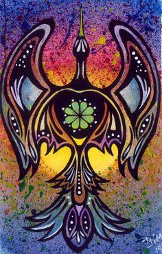 Peyote Bird by Jessika Jim, Authentic Native American Art Native American Church, American Indian Art, American Women, American Indians, American History, Native American Paintings, Native American Artists, Navajo, Arte Tribal