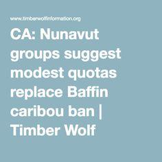 nunavut wildlife facts