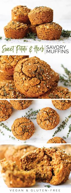 Sweet Potato & Herb Savory Muffins {vegan, gf, oil-free}