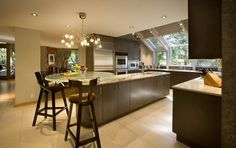 accent your home with lights | natural light rooftop windows accent lights kitchen island area