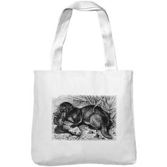 Mintage Otter with Fish Museum Tote Bag