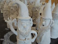 Gnomes! Middle School clay. LOVE this project! :)