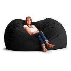 FUF 7 ft. XXL Wide-Wale Corduroy Bean Bag Sofa