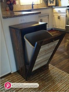 I need a double, one for trash and one for recycling. It's pretty, would keep a certain beagle out of the trash, and has extra storage on top, and would free up space underneath the sink where the trash currently lives.