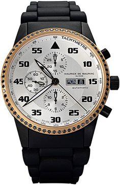Chronograph Modern watch from Swiss Watchmaker Maurice de Mauriac. Swiss watches for men. Visit our website for more luxury swiss watches:  http://mauricedemauriac.ch/