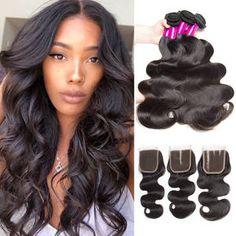 Generous Color 27 Bundles With Closure Honey Blonde Bundles With Closure Brazilian Hair Weave Straight Human Hair 3 Cheap Bundles Human Hair Weaves