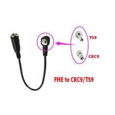 RF cable Coaxial FME para CRC9/TS9 conector universal FME macho a CRC9/TS9 dos conector RG174 de la coleta cable 20 cm nave rápida