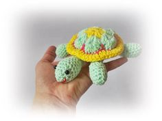 Crochet Turtle Toy Amigurumi Toy Crocheted Turtle Small Toy
