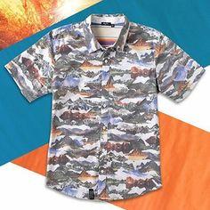 The @LRG Clothing Sunrise To Sunset Shortsleeve Button Up #shirt #lrg
