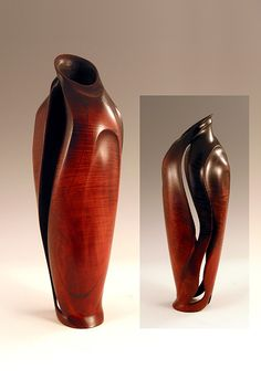 Stephen Hatcher - Fine Art Woodturning Maple with inalid mineral crystals