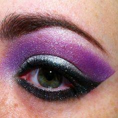 Thank you #MotherMonster for all the inspiration! #ARTPOP Gaga's cat eye makeup is of Goddess quality! #followingyourdreams #eyemakeup #makeup #beauty #cateye #purple #silver #Ecotools #BHcosmetics #UrbanDecay #LadyGaga #Inspired #iamshortandgeeky #eyeballoftheday