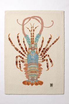 Spiny Lobster Rug. Crazy, but I love it.