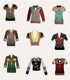 Repurposed Sweaters!!! all GREAT....loving the mismatchiness