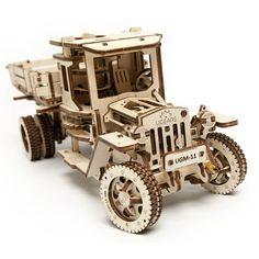 Mechanisch houten bouwpakket pick-up truck