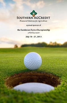 @Brenda Canfield Credit Bank of Texas, Southern AgCredit Sanderson Farms Golf Invitations by Kanokwalee Pusitanun, via Behance