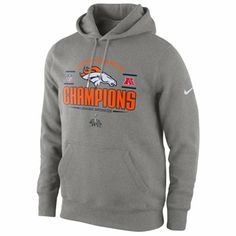 Nike Denver Broncos 2013 AFC Champions Trophy Collection Pullover Hoodie -  Dark Gray 493f6d4f0