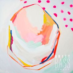 Pink Polka Dots by Britt Bass Turner Art And Illustration, Pink Polka Dots, Polka Dot Print, Joan Mitchell, Pretty Art, Painting Inspiration, Fine Art Paper, Painting & Drawing, Abstract Art