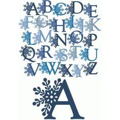 Silhouette Design Store - View Design #52177: snowflake alphabet & letters