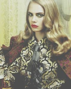 "Cara Delevingne in Numero #135 August 2012 ""The Red Lion"" by Miles Aldridge"
