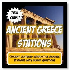 """This Ancient Greece packet has rigor,versatility and fun! CONTENT– The content in the bundle is organized with the key """"big idea"""" Common Core conc. 6th Grade Social Studies, Social Studies Classroom, History Classroom, Ancient World History, Greek History, Asian History, European History, American History, Ancient Greece Lessons"""