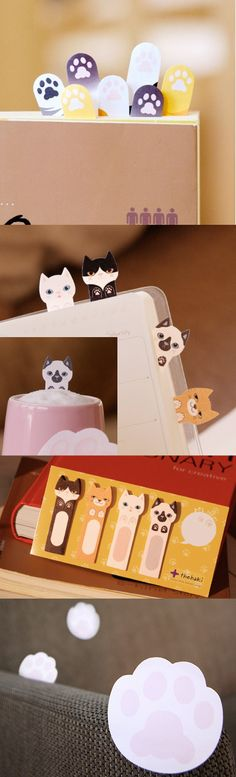 This Kitty Sticky Notes are too cute to resist even though your are not that kitty lover! This smart kitties will help you to index, bookmark and write short notes!