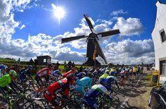 No Amstel,no Holland without any windmills @amstelgoldrace #cycling #classics #windmill #peloton #landscape #netherlands