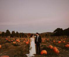 Fall wedding pumpkins California sunset wedding photographer