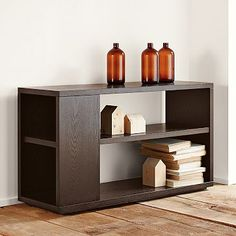 Modular Bookcase #WilliamsSonoma - A piece of storage furniture that functions differently / displays different things at different angles.