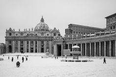 Roma sotto la neve. Rome under the snow. Photo by Andrea Crupi