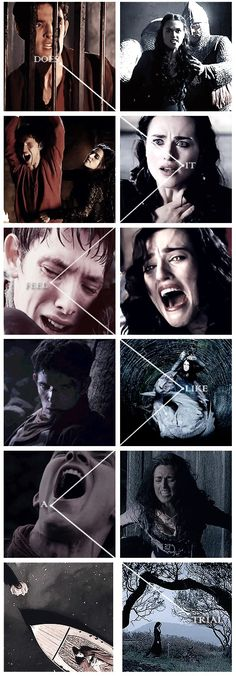 She was the darkness to his light. Her insanity was so perfectly paralleled to his sorrow. Merlin loses everything, Morgana gives it all up in pursuit of power. The relationship between them is amazing. But I have always wished it could've been something more. I love Merlin and Morgana they are my two favorite characters.