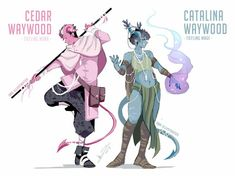 DnD Character designs ABD illustrates