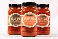 Fictional pasta sauce brand and labels designed tailored to the customers of a local market.