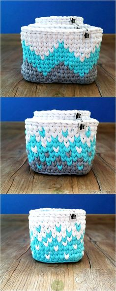 Trendy Crochet Patterns And Designs For Your Personal Use - Diy Crafty Crochet Bowl, Cute Crochet, Knit Crochet, Loom Knitting, Knitting Patterns, Crochet Patterns, Pattern Design, Free Pattern, Box Patterns