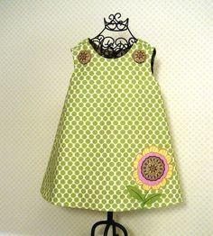 Reversible Aline Jumper Dress Pattern Easy by FootLooseFancyFree Jumper Patterns, Baby Girl Dress Patterns, Dress Sewing Patterns, Clothing Patterns, Baby Dress, Toddler Girl Dresses, Little Girl Dresses, Girls Dresses, Easy Sew Dress