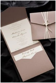 Simple and functional pocket invites.