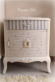 Great Pics Shabby Chic Bedrooms kids Concepts Before years, the ornamental expr… – Furniture Makeover Funky Painted Furniture, Decoupage Furniture, Distressed Furniture, Refurbished Furniture, Paint Furniture, Repurposed Furniture, Shabby Chic Furniture, Shabby Chic Decor, Furniture Projects