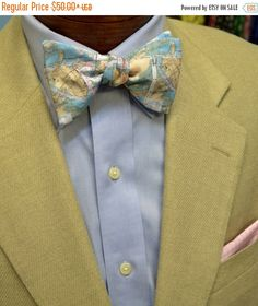 FLASH SALE Charleston Harbor Map Men's Bow Tie or by BarryBeaux