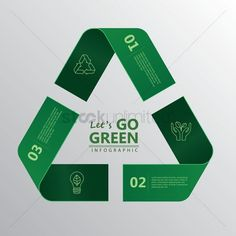 Free Recycling Stock Vectors | StockUnlimited Photoshop Actions, Infographic, Clip Art, How To Get, Concept, Let It Be, Templates, Illustration, Green