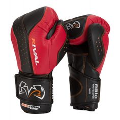 Rival d3o™ Inteli Shock Bag Glove - Black/Red - Sugar Ray's Boxing Equipment Store - Sugar Ray's Boxing Equipment Store