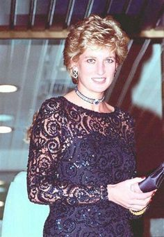 June 5, 1995: Princess Diana at a Gala in Cardiff, Wales.