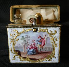 English Finely Enameled Etui Circ 1760 1780 Battersea South Staffordshire