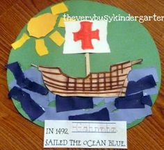 What a cute craft for Columbus Day!  The girls would have a blast making this!  | candleinthenight.com