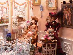 My charming lady's tea room by Lisa.