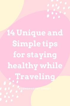 Its more important than every to stay healthy while traveling today. These 14 easy to follow tips will help you in avoiding getting sick. It can still happen but these simple tips will put you in a better stop to avoid it as much as possible.