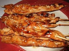 Skewer Recipes, Meat Recipes, Asian Recipes, Chicken Recipes, Cooking Recipes, Chinese Recipes, Turkey Recipes, Chicken Ideas, Chinese Food