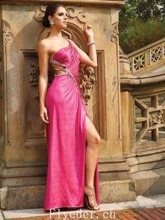 A-linie Eine Schulter Perlstickerei Ärmellos Fußboden-Länge Elastic Woven Satin Ballkleider / Abendkleider